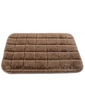 Tapis brique-brun clair