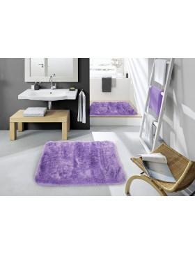 Tapis en peluche-violet