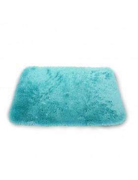 Tapis en peluche-turquoise