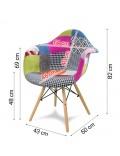 Chaise de salon MILANO YC-14P-AB