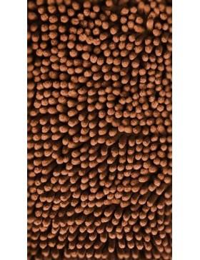 Tapis chenille-caramel