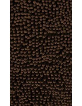 Tapis chenille-brun foncé