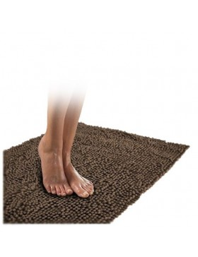 Tapis chenille-brun clair