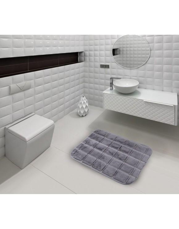 Tapis salle de bain brique